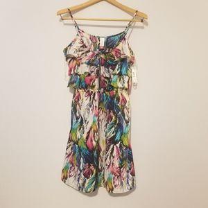 💋Colorful Ruffle Dress Size M